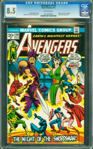 Avengers #114 CGC Graded 8.5 Mantis meets the Avengers. Swordsman appearance.