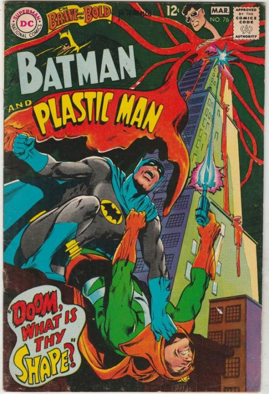Brave and the Bold, The #76 (Mar-68) FN/VF+ High-Grade Batman, Plastic Man