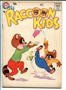 THE RACCOON KIDS #63-1957-DC COMICS-ICE CREAM COVER-vg+