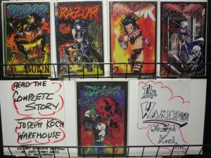 RAZOR BURN (1995 LNS) 1-5 The 'DEATH' of Razor!