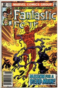 FANTASTIC FOUR #233, FN+, Dead Man, Byrne, 1961 1981, Marvel, more FF in store