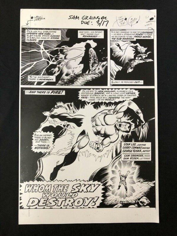 Sub-Mariner Production Art Marvel