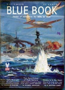 BLUE BOOK PULP-SEPT 1942-VG/FN-STOOPS COVER-BEDFORD-JONES- CLIFFORD-SURDEZ VG/FN