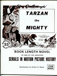 Burroughs Bulletin #33 1974-Tarzan The Mighty serial novelization-ERB-VF/NM