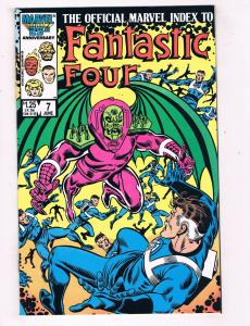 Official Marvel Index to the Fantastic Four (1985) #7 Marvel Comic Book HH4 AD38