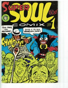 Super Soul Comix #1 VG SOUL BROTHER VS BIGOTS afrocentric black hero racism