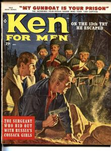 Ken For Men March 1959-Cossacks-spies-John Leone-Syd Shores-cheesecake-VG