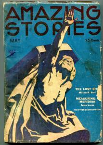 Amazing Stories Pulp May 1934- Jules Verne- Milton Peril G