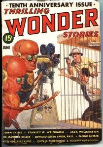 THRILLING WONDER STORIES-1939 JUNE-BURROUGHS SONS-EANDO BINDER-EE SMITH