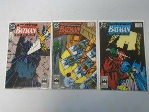 Batman run #433-435 The Many Deaths of the Batman 8.0 VF (1989)