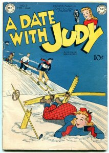 Date with Judy #9 1949- DC Golden Age Humor- skiing cover VG