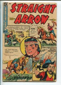 STRAIGHT ARROW #31 1953-ME-INDAIN STORIES-4 PANEL COVER-FRED MEAGHER-good