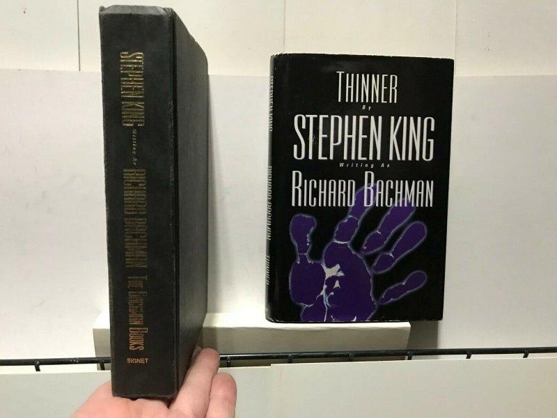 STEPHEN KING as RICHARD BACHMAN LOT of 2 HARDCOVER BOOKS FINE READING 1st Prints
