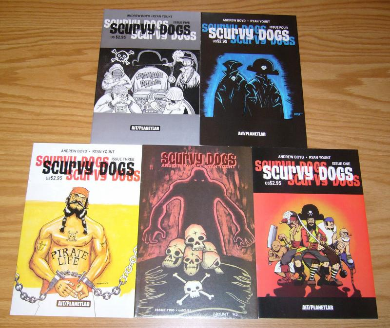 Scurvy Dogs #1-5 VF/NM complete series - pirates - andrew boyd/ryan yount 2 3 4