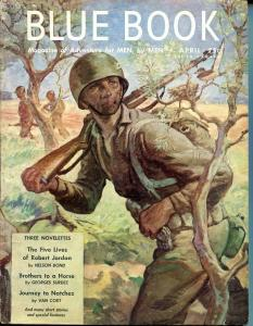 BLUE BOOK PULP-APRIL 1945-FN/VF-STOOPS COVER-JOEL REEVE-NELSON BOND-VAN FN/VF