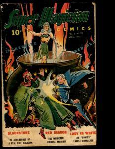 Super Magician Comics Vol. # 3 # 12 VG 1945 Golden Age Comic Book Voodoo NE3