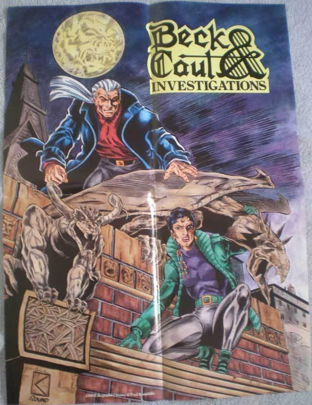 BECK and CAUL Investigations Promo poster, 1993, Unused, more in our store