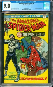 The Amazing Spider-Man #129 CGC Graded 9.0 1st appearance of the Punisher (Fr...