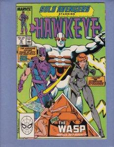 Solo Avengers #15 VG Hawkeye Black Widow Marvel 1989