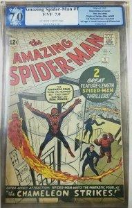 1963 Amazing Spider-Man #1 PGX 7.0 (F/VF) Origin of Spider-Man Retold