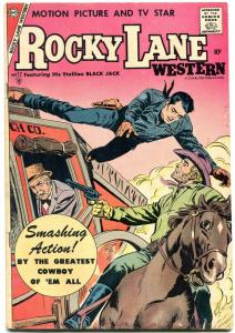 Rocky Lane Western #77 1957-STAGECOACH ROBBERY COVER    VG