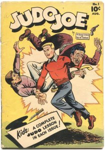 JUDO JOE #1-1953--FIRST ISSUE-ATOMIC BOMB EXPLOSION PANEL-MAN IN DRAG
