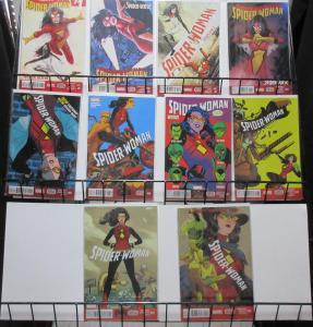 Spider-Woman (Marvel v5 2015) #1-10 Complete Spider-Verse Undercover + Silk