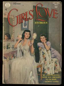GIRLS LOVE STORIES #2 1949-DC ROMANCE-PHOTO COVER-1949 VG