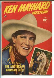 Ken Maynard Western #5 1951-Fawcett-movie photo covers-3 chapter story-VG+
