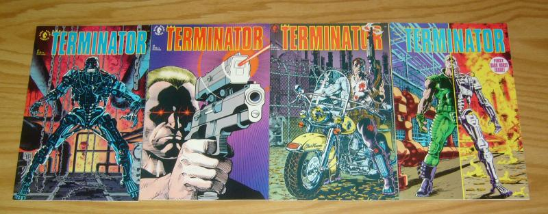 Terminator #1-4 VF/NM complete series adapts the first movie - dark horse set