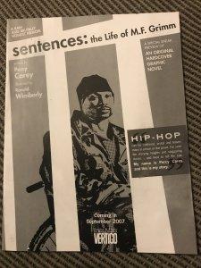 SENTENCES / CARIO #1 promo : DC - Vertigo 2007 VF-; Hip Hop M.F. Grimm