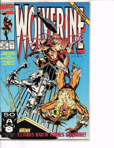 Marvel Comics Wolverine #45 Marc Silvestri NM Sabretooth Lady Deathstrike