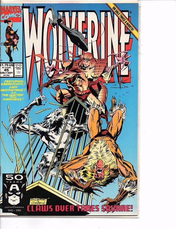 Marvel Comics Wolverine #45 Marc Silvestri NM Sabretooth Lady Deathstrike