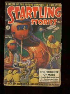 STARTLING STORIES MAY 1939  ROBOT & FLYING SAUCER COVER VG