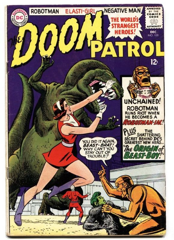 Doom Patrol #100 Origin of Beast Boy- Suicide Squad 1965 COMIC BOOK
