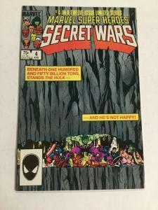 Marvel Super Heroes Secret Wars 4 Nm Near Mint