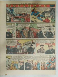 Superman Sunday Page #898 by Wayne Boring from 1/13/1957 Size ~11 x 15 inches
