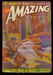 AMAZING STORIES OCT 1941-INVISIBLE MEN MARS-BURROUGHS VG