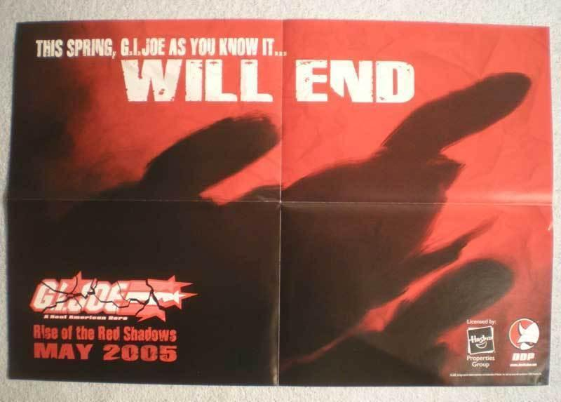 G.I. JOE  Promo poster, 18x12, 2005, Unused, more in our store