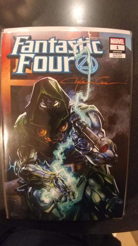 FANTASTIC FOUR #1 SCORPION COMIC'S VARIANT SIGNED BY CLAYTON CRAIN WITH COA