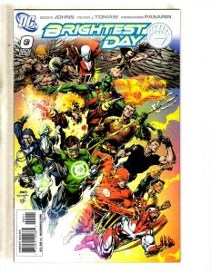 Lot Of 10 Brightest Day DC Comic Books # 0 1 2 3 4 5 6 7 8 9 Batman Flash JC5