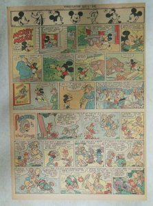 Mickey Mouse Sunday Page by Walt Disney from 5/6/1945 Tabloid Page Size