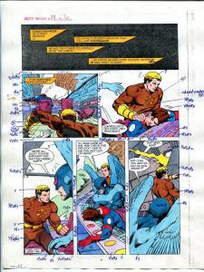 Justice Machine #24 Page #6 1988 Original Color Guide