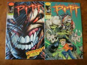 2 IMAGE Comic Book: (1993) PITT #1 #2