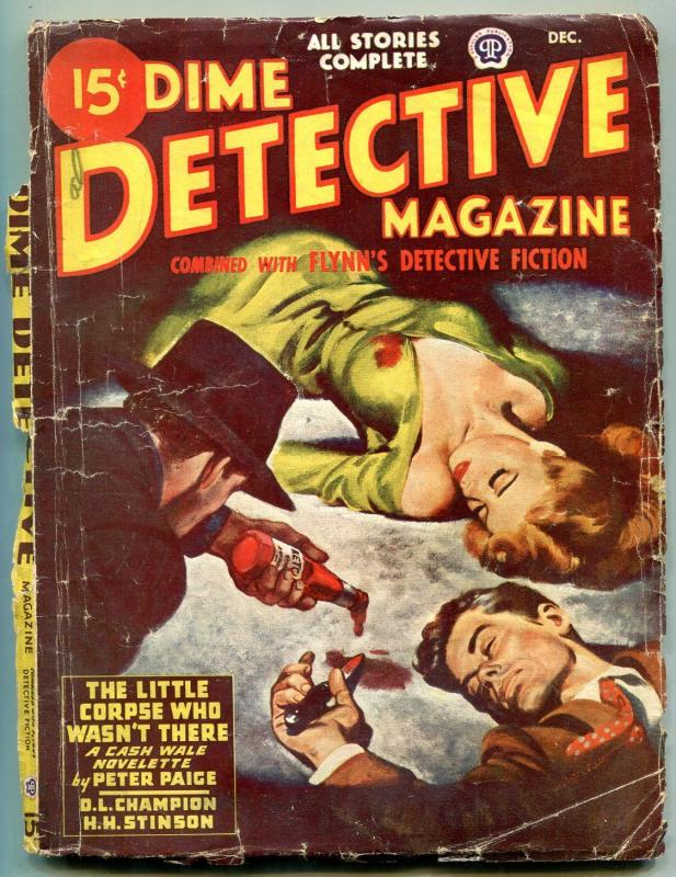 Dime Detective Pulp December 1946- Peter Paige- DL Champion G-