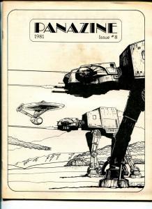 Panazine #8 1981-Star Wars-Star Trek-sci-fi fanzine-Alan Dean Foster-VG