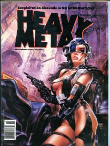 HEAVY METAL September November Winter 1989, Prado, Ortiz, Torres, 3 issues in al