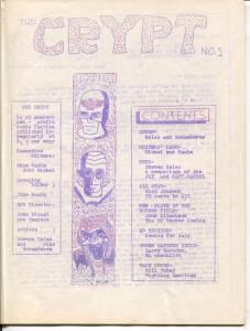 Crypt #1 1965-1st issue-mimeo fanzine-EC Comics feature-All Star-FN-