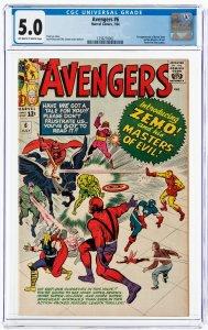 Avengers #6 (Marvel, 1964) CGC 6.0