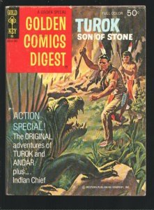 Golden Comics Digest #31 1973-Turok Son Of Stone-Indian Chief-White Eagle-Din...